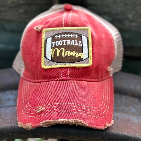 c8059f95ec3 Judith March Football Mama Trucker Hat